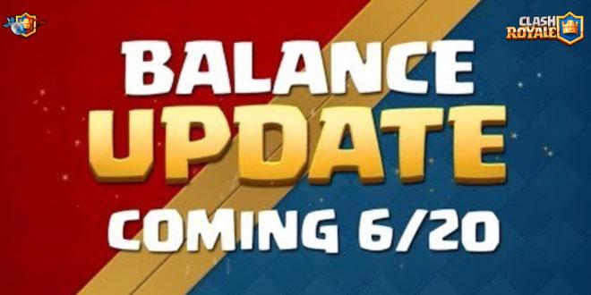 Изменение баланса в Clash Royale 20 июня 2018