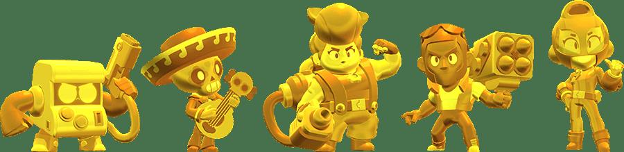 Новые золотые скины